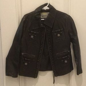 Sugarfly faux leather jacket medium
